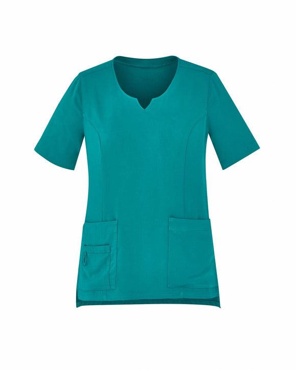 Tailored Fit Round Neck Scrub Top | Womens