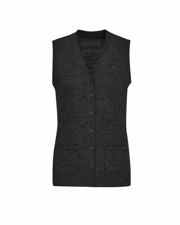 Button Front Knit Vest | Womens