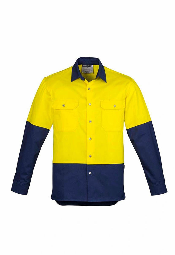Hi Vis Spliced Industrial Shirt | Mens