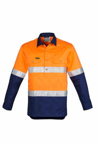 Hi Vis Closed Front Hoop Taped Shirt | Mens