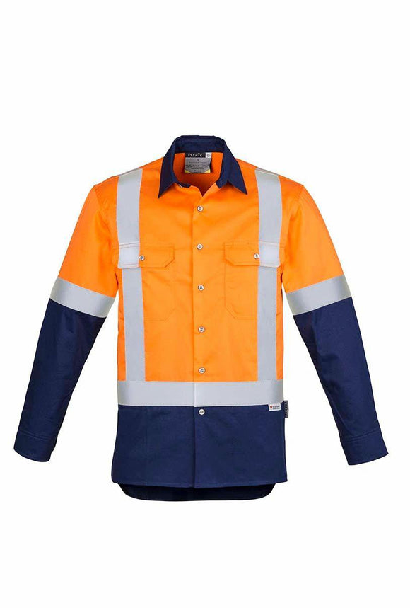 Hi Vis Spliced Industrial Shoulder Taped Shirt | Mens