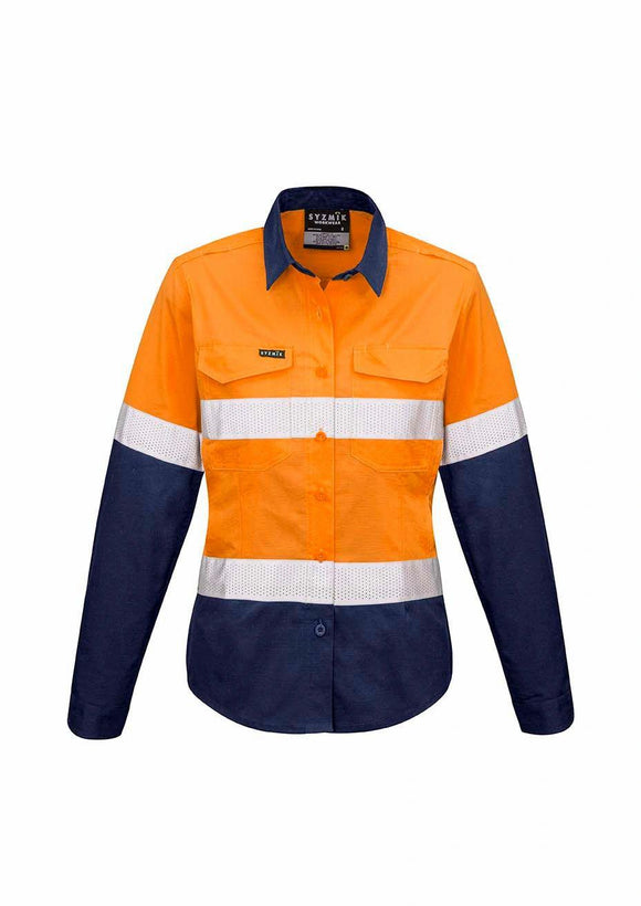 Hi Vis Spliced Cooling Taped Shirt | Womens
