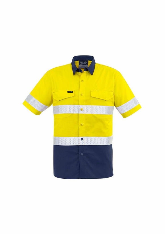 Hi Vis Spliced Cooling Taped Short Sleeve Shirt | Mens