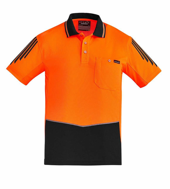 Hi Vis Flux Short Sleeve Polo | Mens