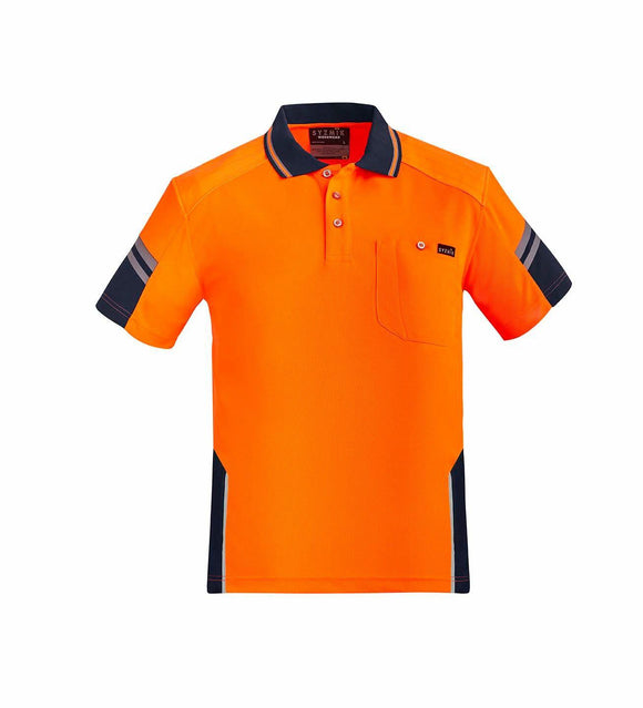 Reinforced Hi Vis Squad Short Sleeve Polo | Mens