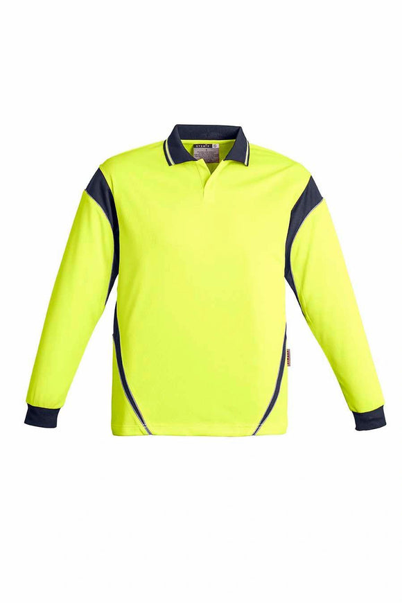 Hi Vis Aztec Long Sleeve Polo | Mens