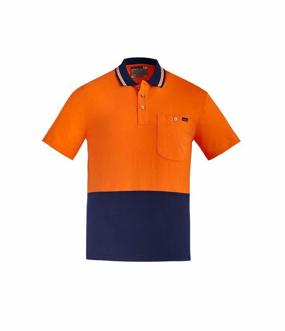 Hi Vis Cotton Short Sleeve Polo | Mens
