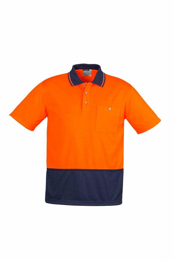 Hi Vis Basic Spliced Short Sleeve Polo | Mens