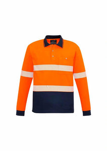 Hi Vis Basic Segmented Long Sleeve Polo | Unisex