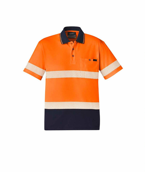 Hi Vis Basic Segmented Short Sleeve Polo | Unisex