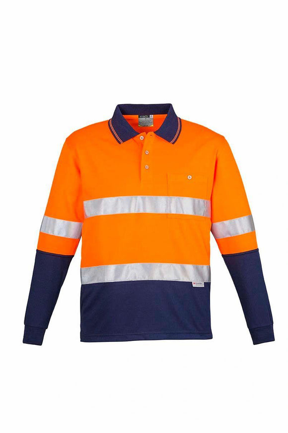 Hi Vis Splice Long Sleeve Polo | Mens