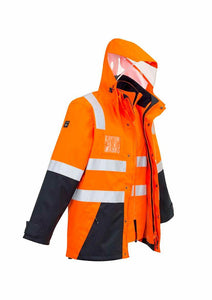 Hi Vis 4 in 1 Waterproof Jacket | Unisex