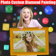 Load image into Gallery viewer, HOMFUN Photo Custom Diamond Painting 5D DIY Picture of Rhinestones Diamond Embroidery 3D Cross Stitch Home Wedding Decoration