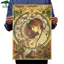 Load image into Gallery viewer, Dlkklb Hayao Miyazaki Anime Movie Poster Set Kraft Paper Cafe Bar Retro Poster Decorative Painting Art Wall Stickers Home Decor