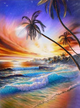 Load image into Gallery viewer, Diamond Painting Landscape 5D DIY Diamond Embroidery Full Drill Square Seaside Sunset Picture Of Rhinestone Sunrise Decor Home