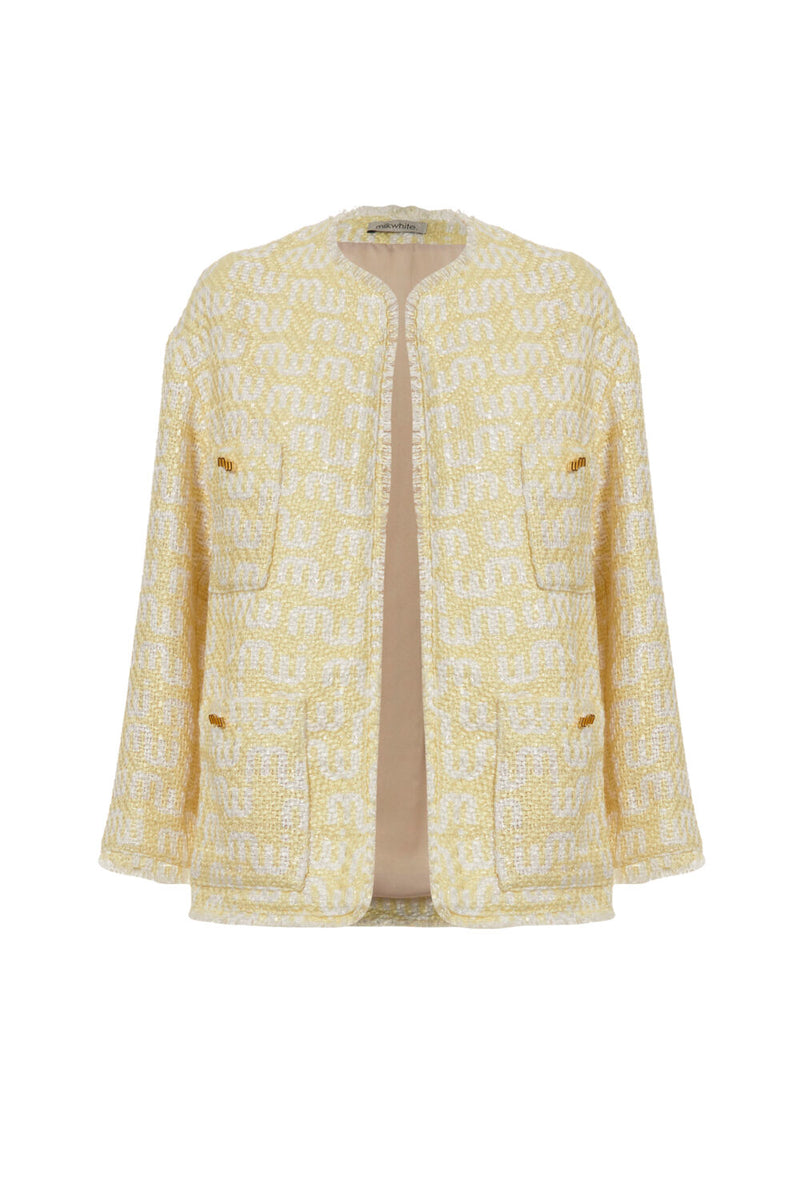 Jacket Logo Tweed Yellow