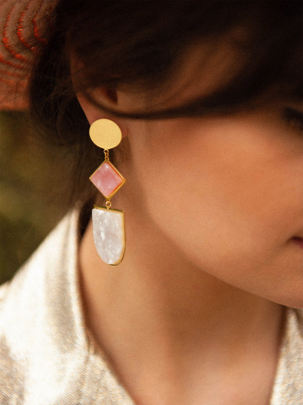 Earring Mac Alpin Light Pink