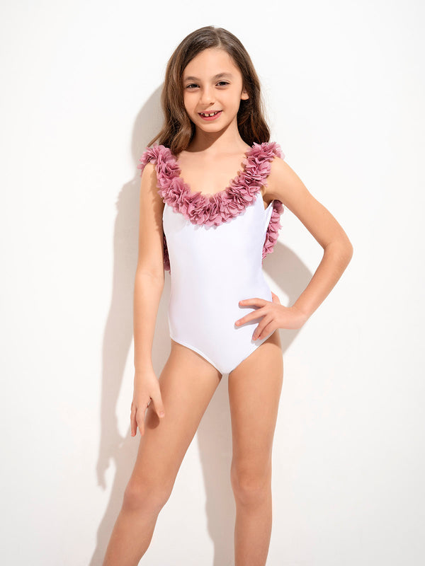 Swimsuit Juliet white & pink
