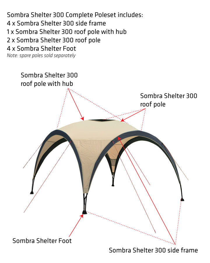 Sombra Shelter 300 roof pole