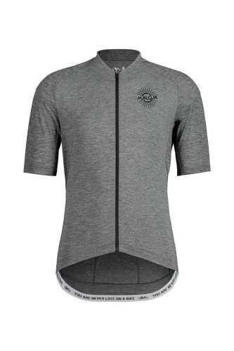 MotM. grey Short Sleeve Bike Jersey front Maloja Sport Raith