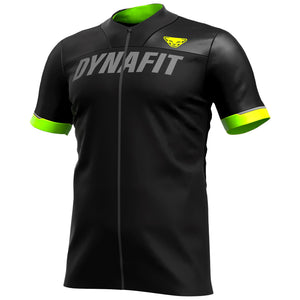 Biking Ride Full Zip T-Shirt for Men black front Dynafit bei Sport Raith