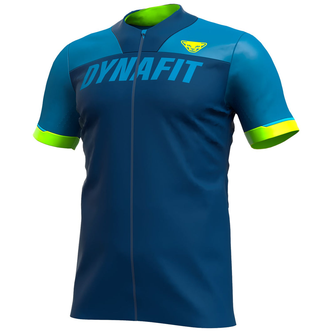 Biking Ride Full Zip T-Shirt for Men blue front Dynafit bei Sport Raith