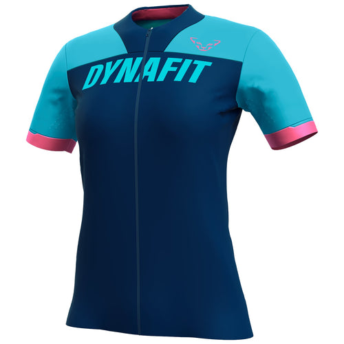 Biking Ride Full Zip T-Shirt for Women blue front Dynafit bei Sport Raith