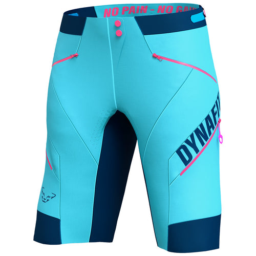 Biking Ride Dynastretch Shorts for Women blue front Dynafit Sport Raith