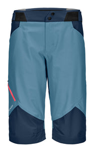 Hiking Pala Shorts for Women blue front Ortovox Sport Raith