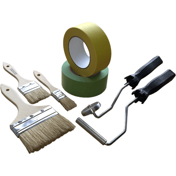 Brushes, Rollers, Masking Tape, Scissors, Mixing & Dispensing