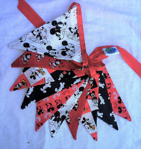 Handmade Double-Sided Fabric Bunting