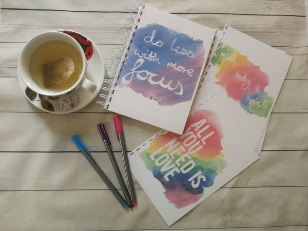 Planner/Journal/Notebook -Positive Affirmation -Do Less With More Focus