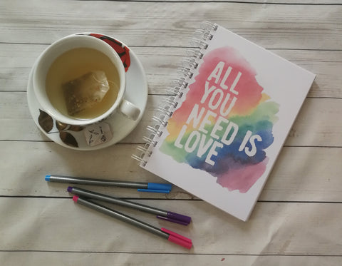 Planner/Journal/Notebook -Positive Affirmation -All You Need Is Love