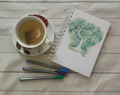 Planner/Journal/Notebook -Positive Affirmation -Tree of Hearts