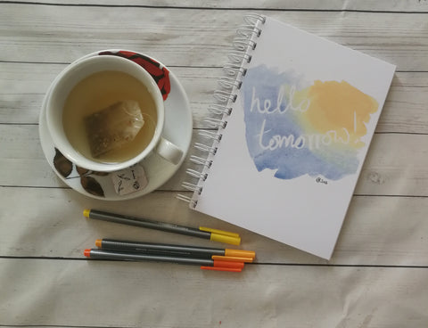 Planner/Journal/Notebook -Positive Affirmation -Hello Tomorrow
