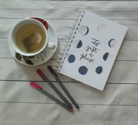 Planner/Journal/Notebook -Moon Phases Its Just a Phase