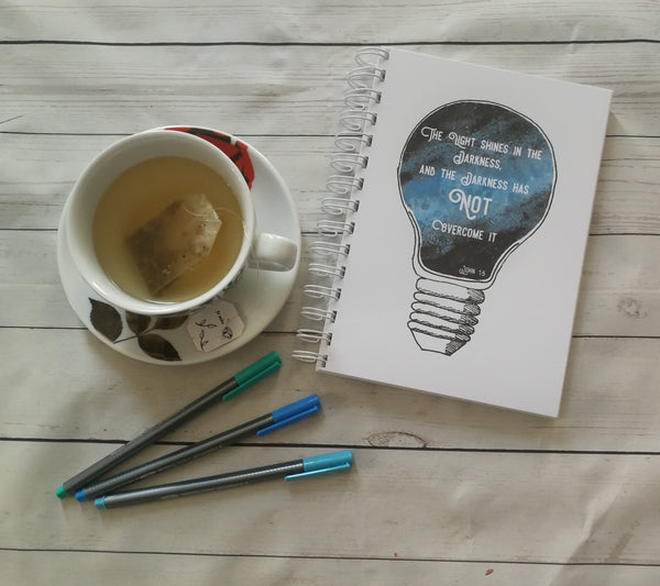 Planner/Journal/Notebook -Galaxy Lightbulb