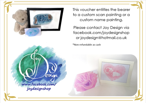 Custom Baby Scan /Name Painting Gift Card