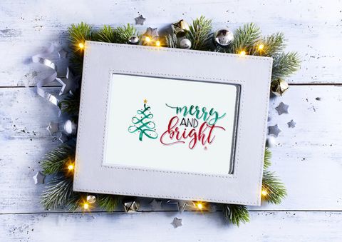 Christmas Print -Merry and Bright -Digital Download