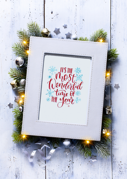 Christmas Print -Its The Most Wonderful Time -Digital Download