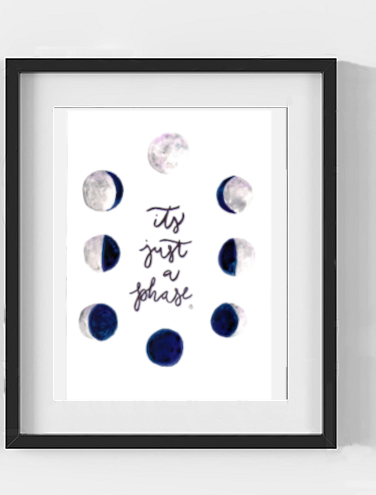 Its Just a Phase Moon Phases A3 A4 A5 Print