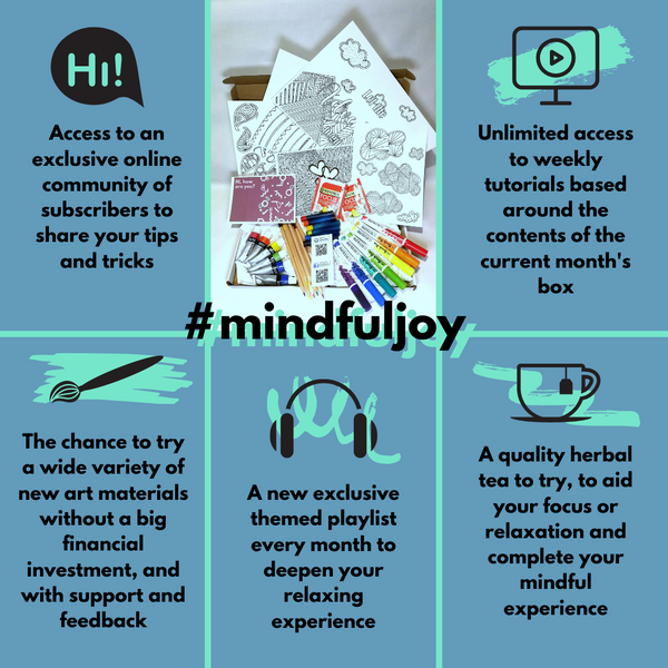 Mini Mindful Joy Colouring Subscription Box -December box orders open now!