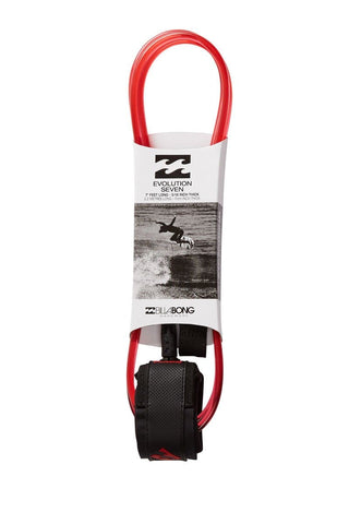 Billabong Evolution 7' Leash-Crystal Red-7'