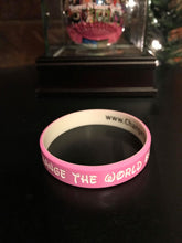 Load image into Gallery viewer, Change the World BabyGirl Wristband
