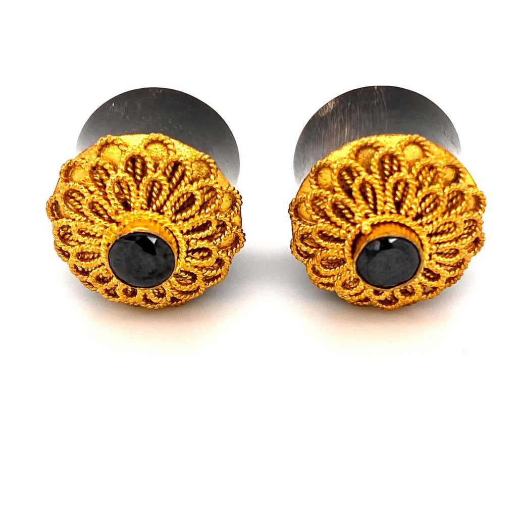 24k Gold Plated Artisan Ornate Plugs