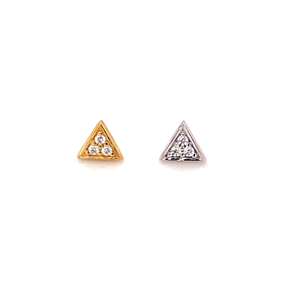 BVLA 14k Gold Micro Pave Triangle Threadless End