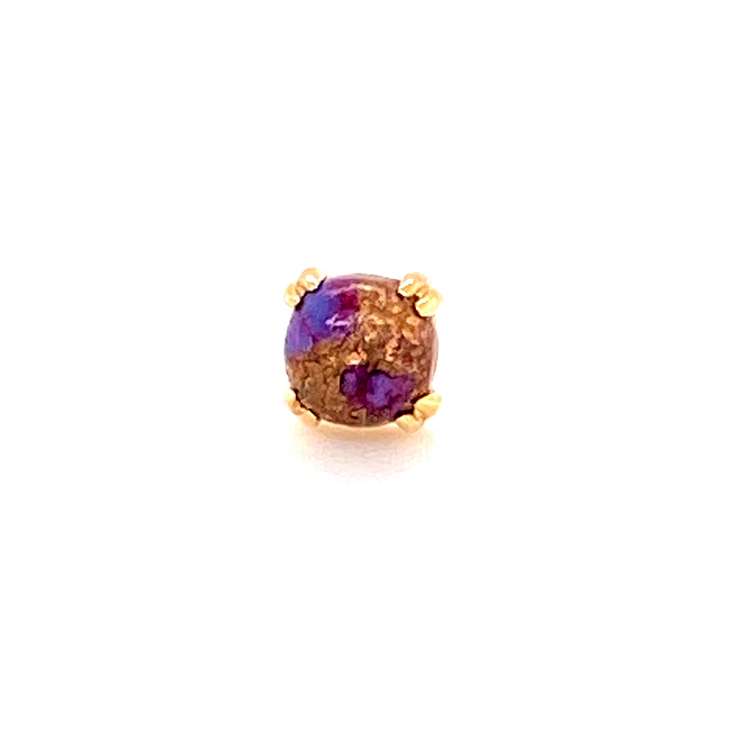 BVLA 4 mm Copper Purple Turquoise Round Cab