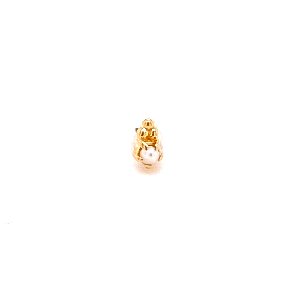Tawapa 14k Pearl Figment Threadless End
