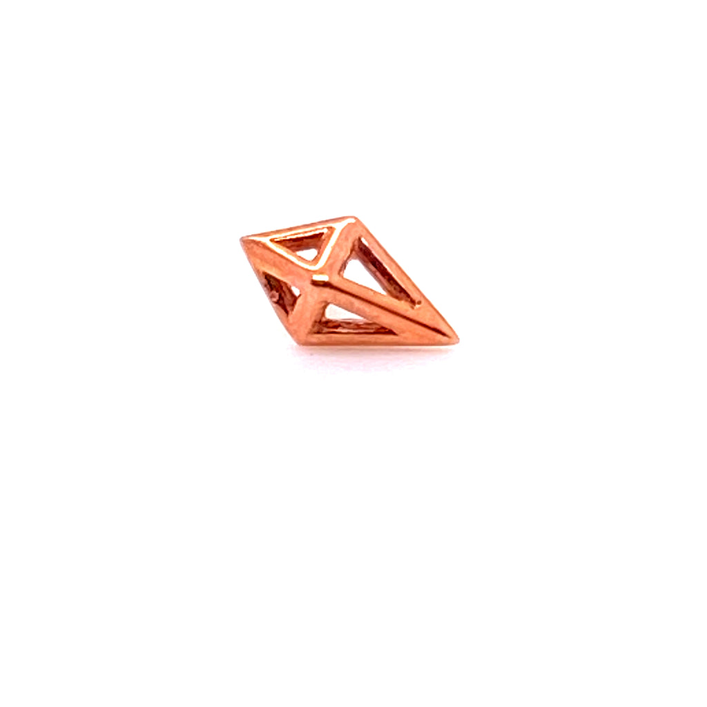 Tawapa 14k Diamond Cube Threadless Pin