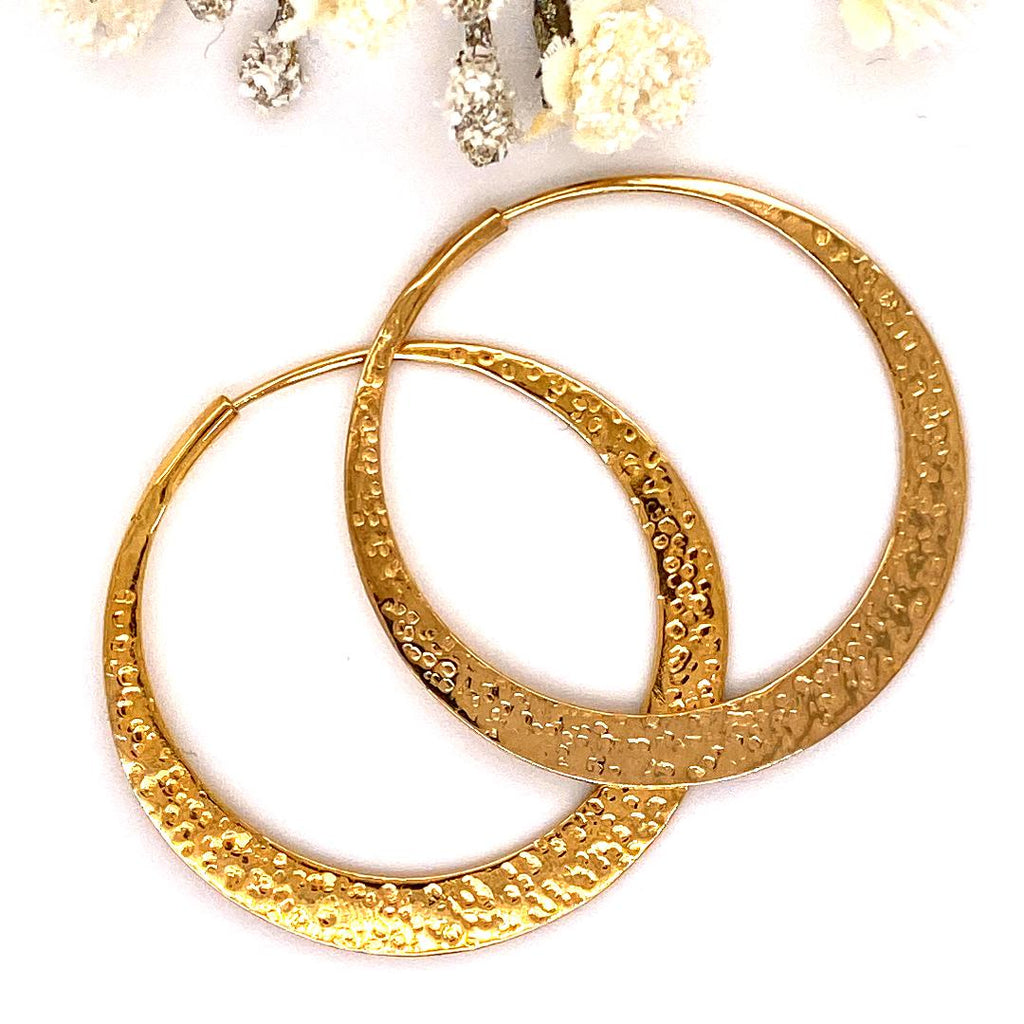 Tawapa Satin Textured Flat Hoops